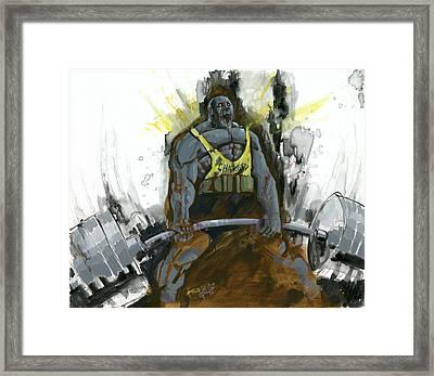 Dead Lift Framed Print by Luis  Navarro