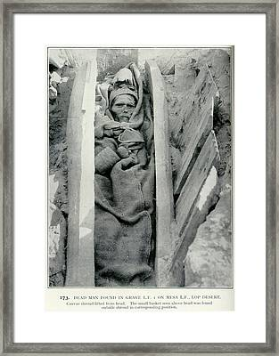 Dead Man Found In Grave Framed Print by British Library
