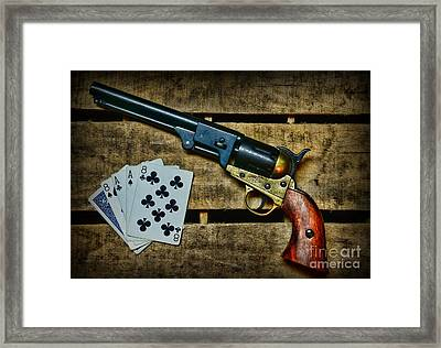 Dead Man's Hand Framed Print by Paul Ward