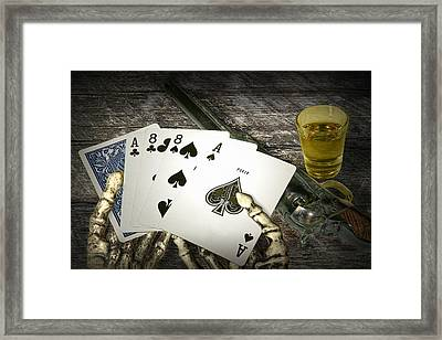 Dead Man's Hand Framed Print by Randall Nyhof