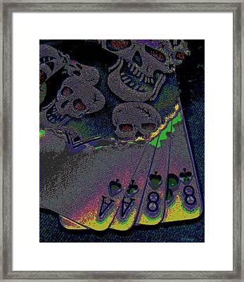Dead Man's Hand Framed Print by Rebecca Flaig