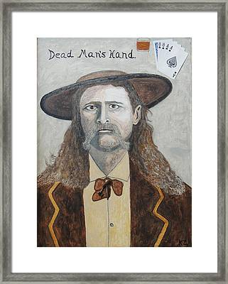 Dead Man's Hand.james Butler Hickok. Framed Print by Ken Zabel