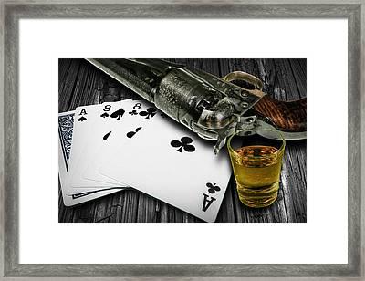 Dead Man's Poker Hand Framed Print