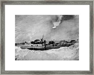 Dead Men Swimming Framed Print by Unknown