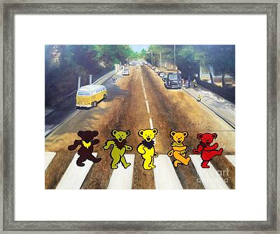 Dead On Abbey Road Framed Print