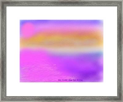 Framed Print featuring the digital art Dead Sea .morning by Dr Loifer Vladimir
