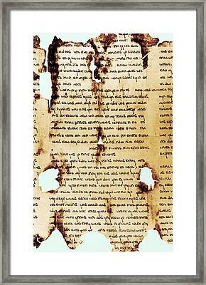 Dead Sea Scroll Framed Print