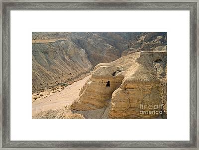 Dead Sea Scrolls Cave Qumran Framed Print