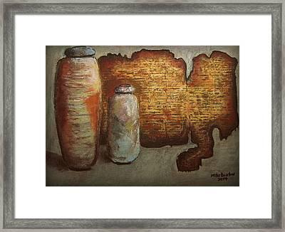 Dead Sea Scrolls Framed Print