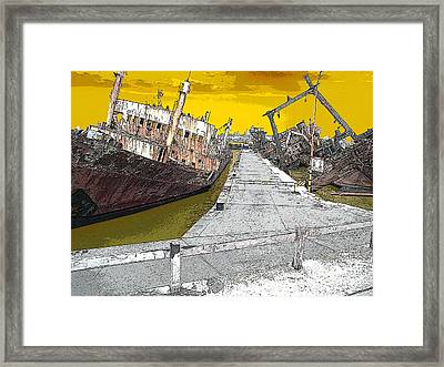 Dead Ship 2 Framed Print by Gustavo Mazzoni
