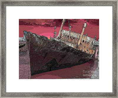 Dead Ship 3 Framed Print by Gustavo Mazzoni
