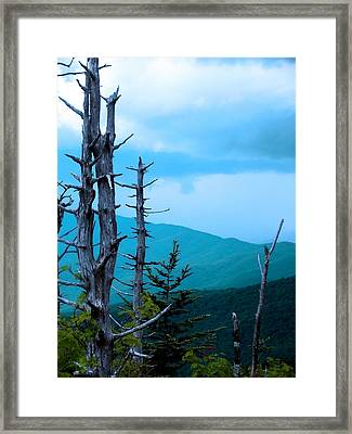 Dead Skies Framed Print by Russell Clenney