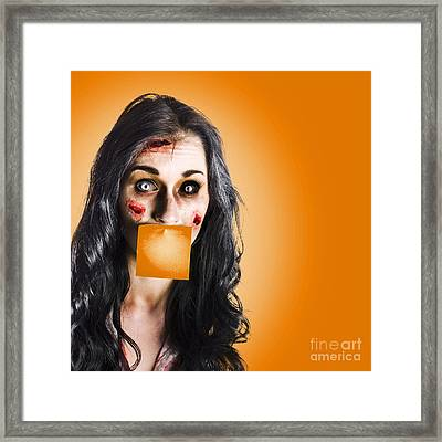Dead Tired Worker Sick From Hard Work Framed Print