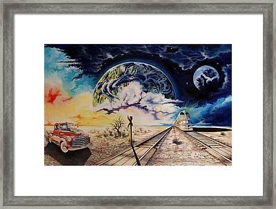 Dead Tree Junction Framed Print