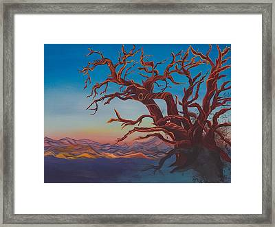 Framed Print featuring the painting Dead Tree by Yolanda Raker
