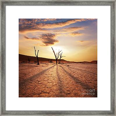 Dead Valley Area Framed Print by Boon Mee