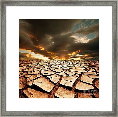 Dead Valley Land Framed Print by Boon Mee