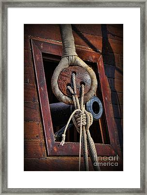 Deadeye And Cannon Framed Print by Lee Dos Santos