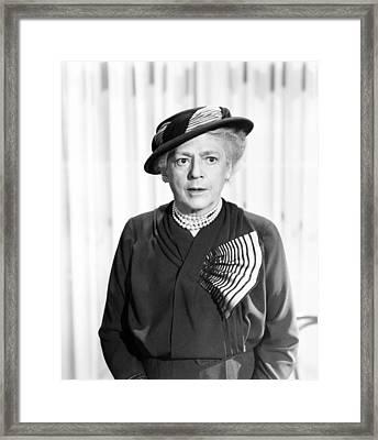Deadline - U.s.a., Ethel Barrymore Framed Print by Everett