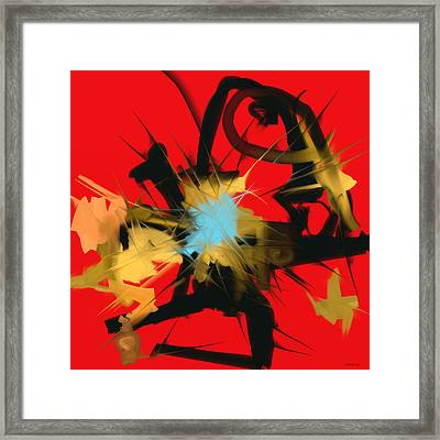 Framed Print featuring the digital art Deadly Fight by Martina  Rathgens