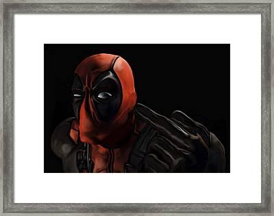 Deadpool Framed Print by Jeff DOttavio