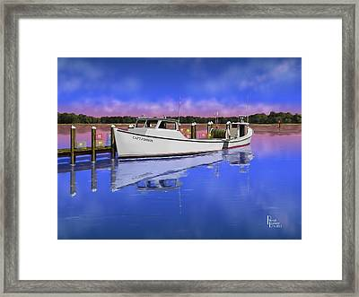 Deadrise Reflection Framed Print by Patrick Belote
