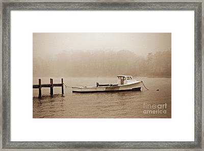 Deadrise Waiting Framed Print
