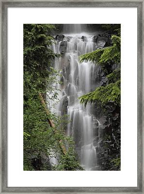 Deadwood Creek Waterfall Framed Print by Angie Vogel