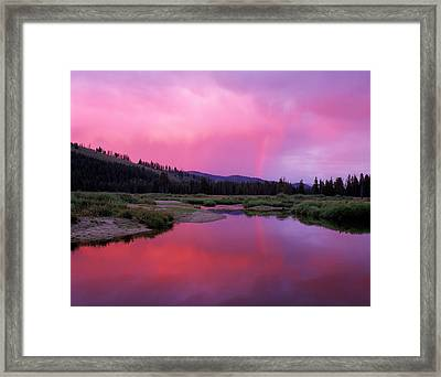 Deadwood River Framed Print by Leland D Howard