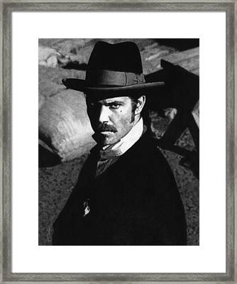 Deadwood - Seth Bullock Framed Print by Justin Clark