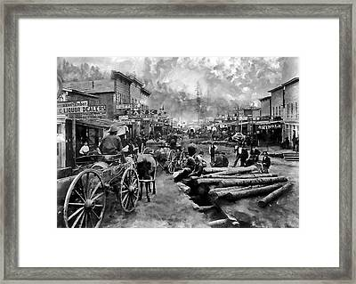 Deadwood South Dakota Around 1876 Framed Print by Daniel Hagerman