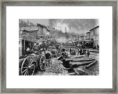 Deadwood South Dakota C. 1876 Framed Print by Daniel Hagerman