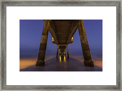 Deal Pier At Night Framed Print