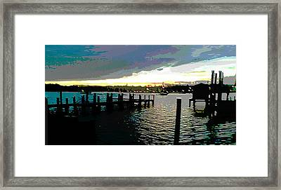 Deale Maryland Harbour Seascape Framed Print