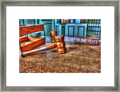 Dealing Justice Framed Print