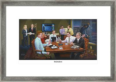 Dealmakers Framed Print by Ten Doves Charity