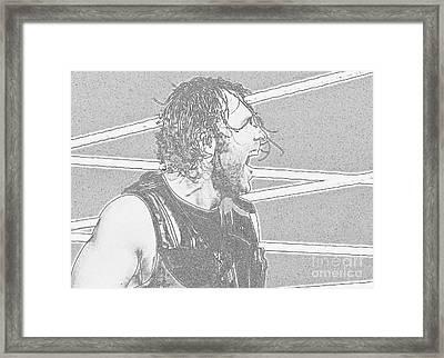Dean Ambrose Framed Print