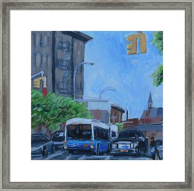 Framed Print featuring the painting Dean St And Nostrand Ave by Tu-Kwon Thomas