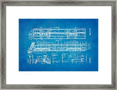 Dean Train Tractor Unit 2 Patent Art 1940 Blueprint Framed Print by Ian Monk