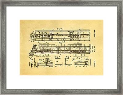 Dean Train Tractor Unit 2 Patent Art 1940 Framed Print by Ian Monk