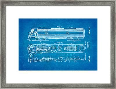 Dean Train Tractor Unit Patent Art 1940 Blueprint Framed Print by Ian Monk