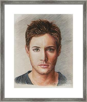 Dean Winchester / Jensen Ackles Framed Print