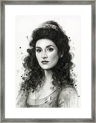 Deanna Troi - Star Trek Fan Art Framed Print by Olga Shvartsur