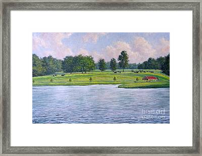 Deans Black Angus Ranch Framed Print by Vickie Fears