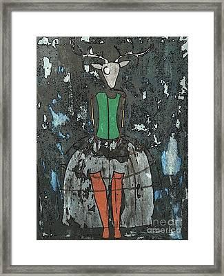 Dear Deer Framed Print by Amy Sorrell