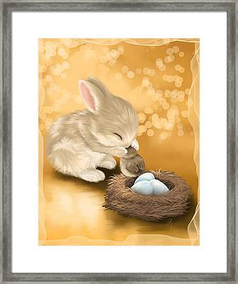 Dear Friend Framed Print by Veronica Minozzi