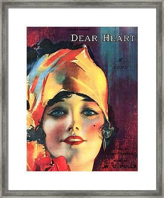 Dear Heart Framed Print