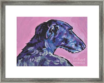 Dear Hound Framed Print by Lea S