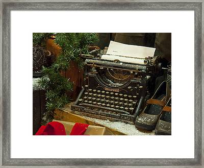 Dear Santa Framed Print by Craig T Burgwardt