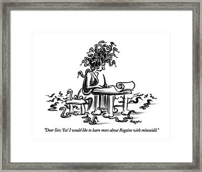 Dear Sirs: Yes!  I Would Like To Learn More Framed Print by Lee Lorenz